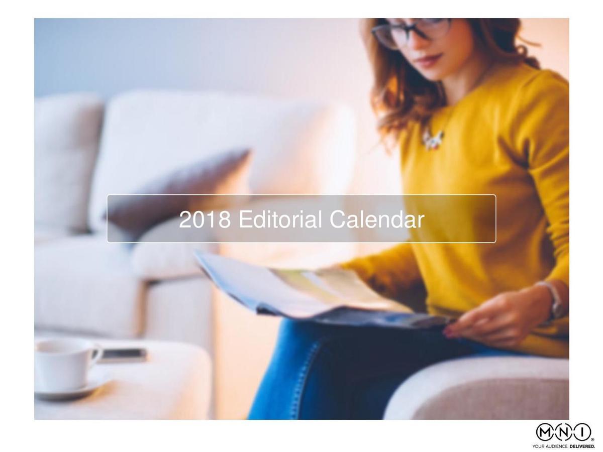2018 Editorial Calendar
